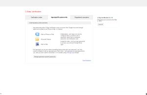 Google Security App-specific Passwords