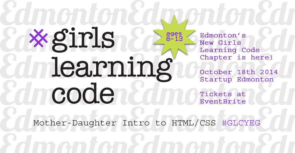 Girls Learning Code Edmonton